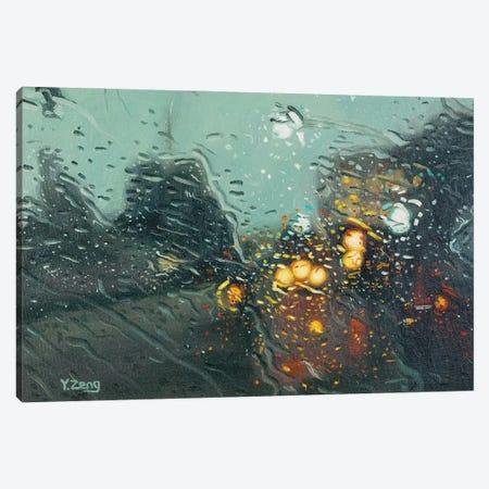 Rainy Street Canvas Print #YZG73} by Yue Zeng Canvas Print