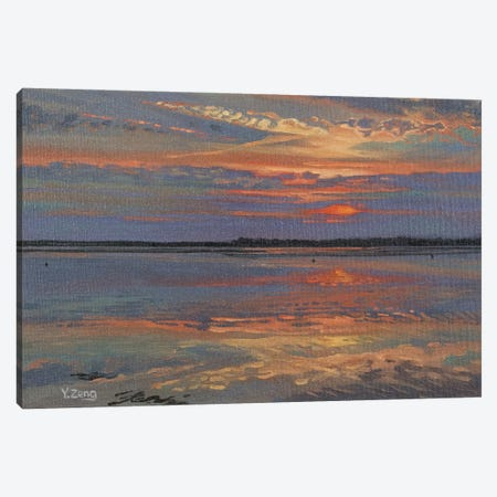 Lake Sunset Canvas Print #YZG75} by Yue Zeng Canvas Art