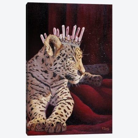 Princess Leopard Oil Canvas Print #YZG80} by Yue Zeng Canvas Artwork