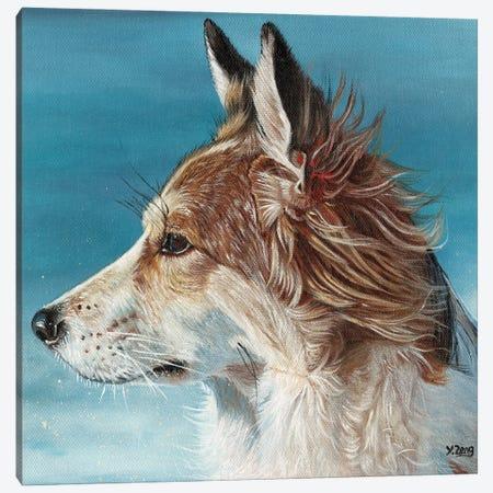 Corgi Profile Canvas Print #YZG8} by Yue Zeng Canvas Print
