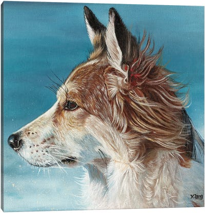 Corgi Profile Canvas Art Print