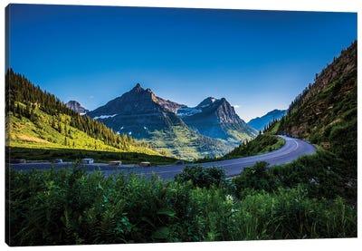 Mountain Pass, Continental Divide, Glacier National Park, Montana Canvas Art Print
