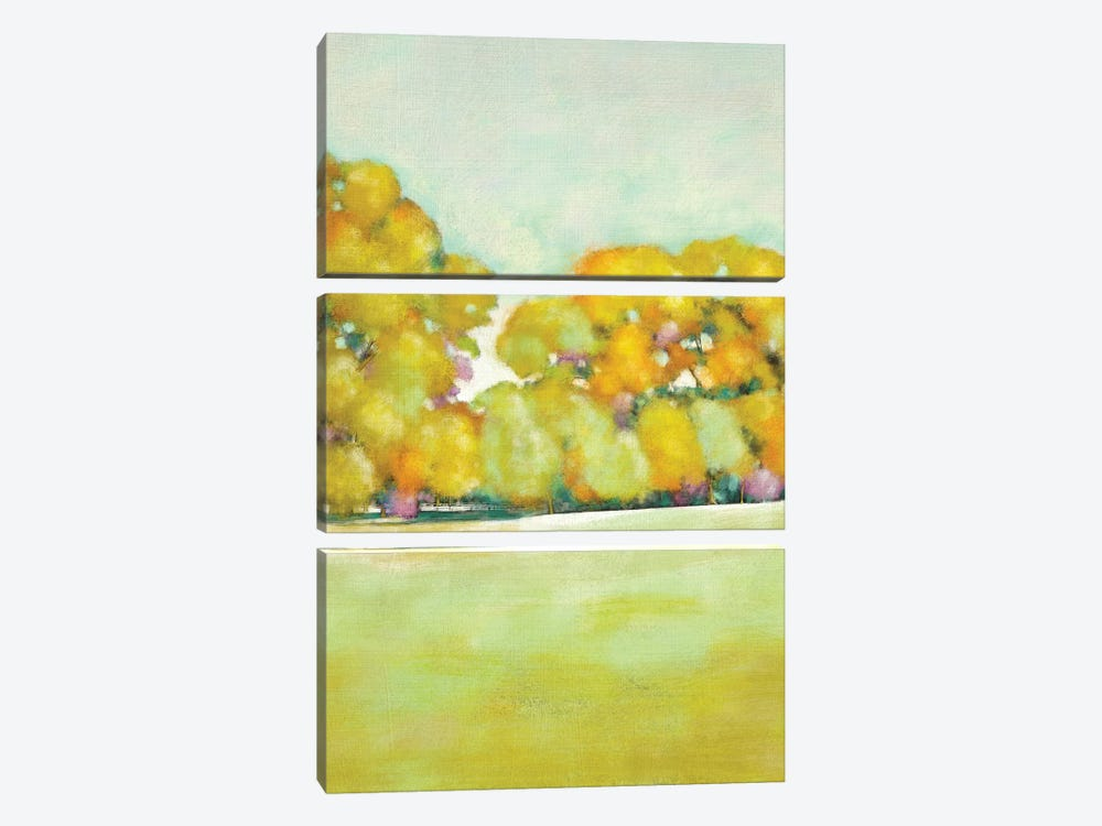 Golden Landscape I by Chariklia Zarris 3-piece Canvas Art Print