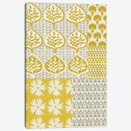 Marigold Patterns I 3-Piece Canvas #ZAR121} by Chariklia Zarris Art Print