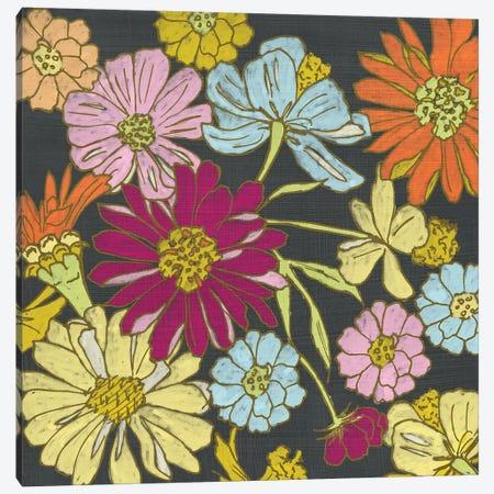 Summer Floral On Grey I Canvas Print #ZAR131} by Chariklia Zarris Canvas Wall Art