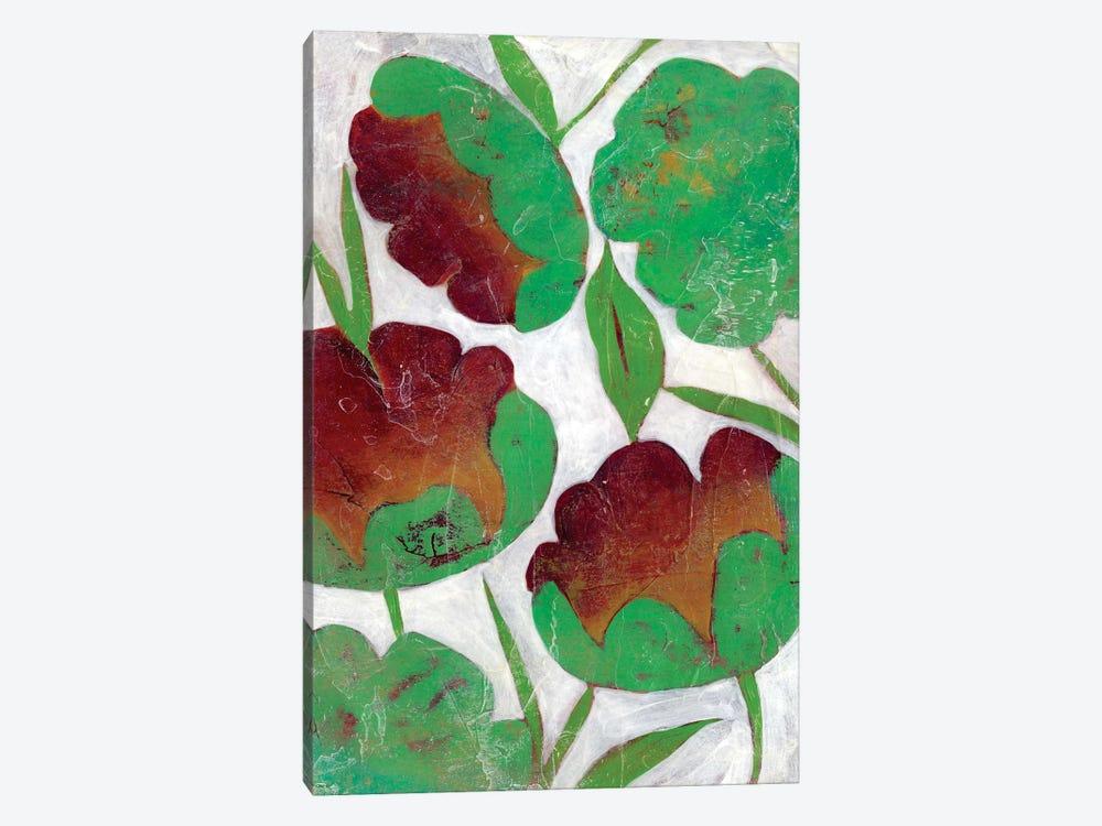 Verdigris Blooms II by Chariklia Zarris 1-piece Canvas Wall Art