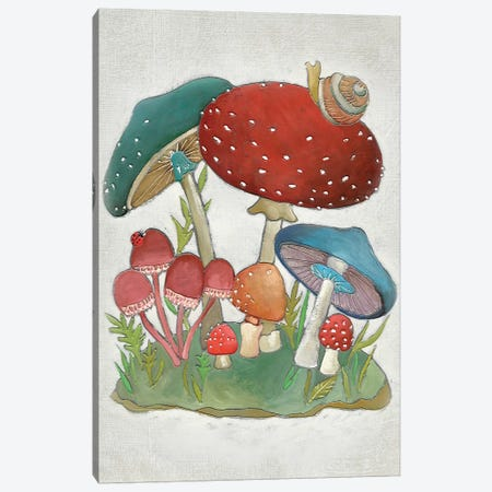 Mushroom Collection I Canvas Print #ZAR154} by Chariklia Zarris Canvas Print