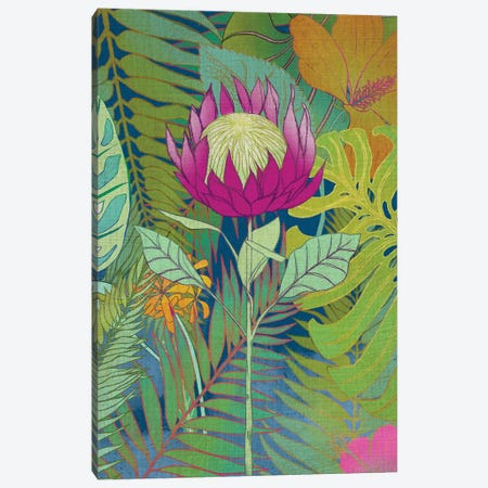 Tropical Tapestry I Canvas Print #ZAR162} by Chariklia Zarris Canvas Art Print