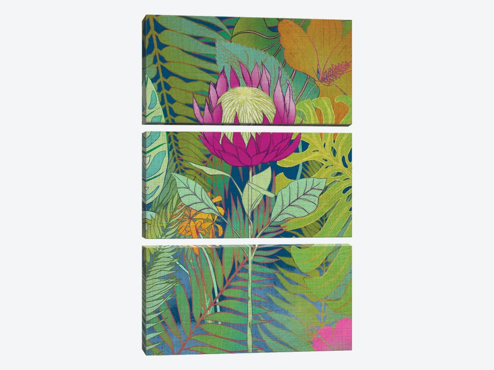 Tropical Tapestry I by Chariklia Zarris 3-piece Canvas Print