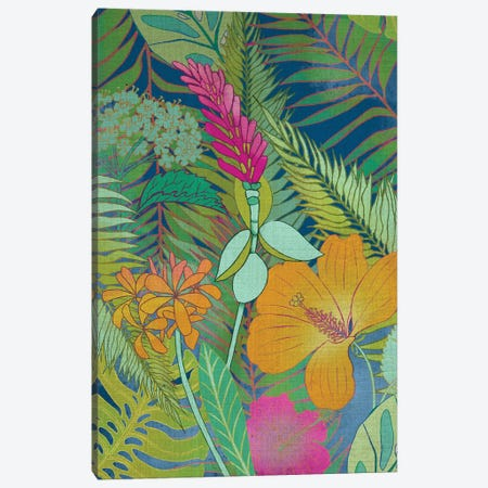 Tropical Tapestry II Canvas Print #ZAR163} by Chariklia Zarris Canvas Print