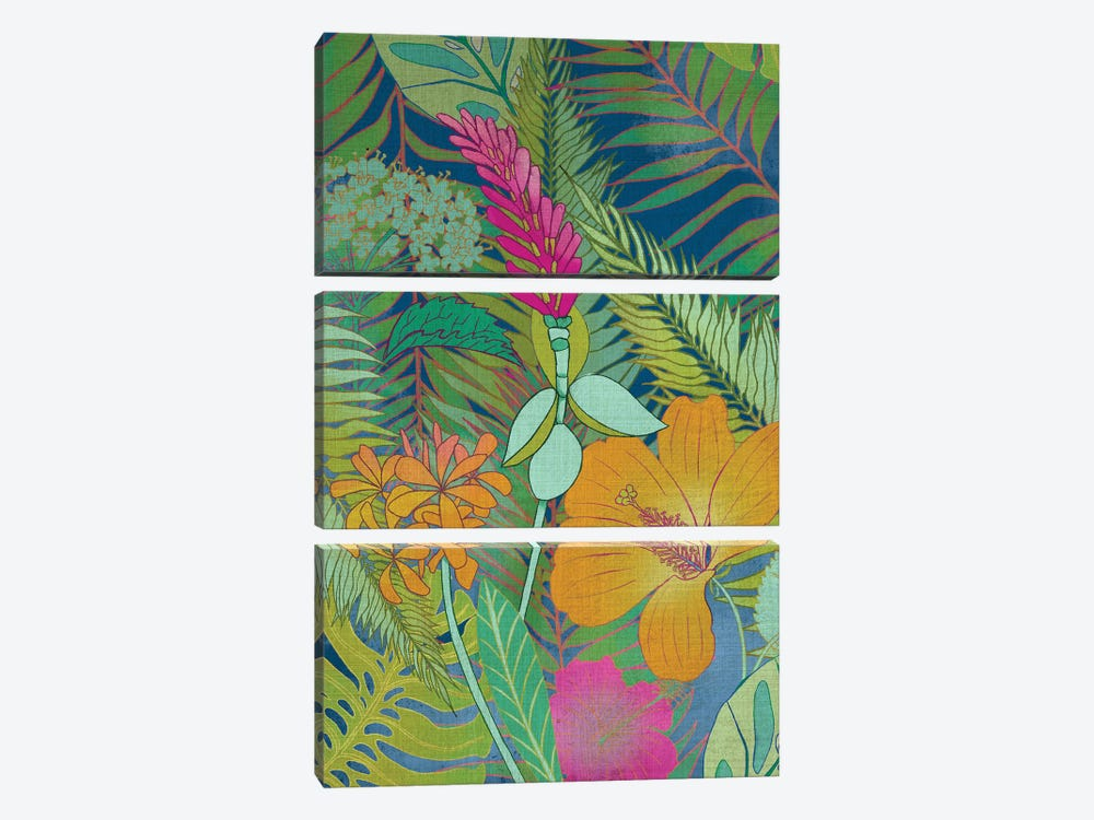 Tropical Tapestry II by Chariklia Zarris 3-piece Canvas Wall Art