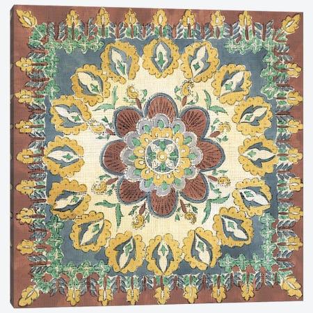 Batik Rosette I Canvas Print #ZAR172} by Chariklia Zarris Canvas Wall Art