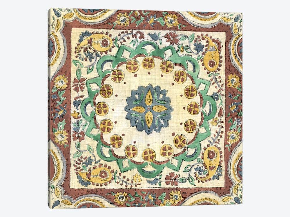 Batik Rosette II by Chariklia Zarris 1-piece Canvas Art Print