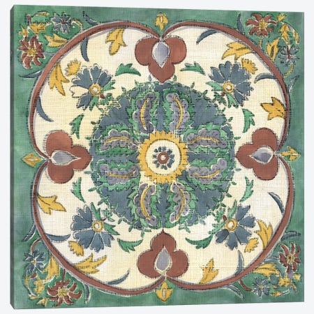 Batik Rosette IV Canvas Print #ZAR175} by Chariklia Zarris Canvas Art Print