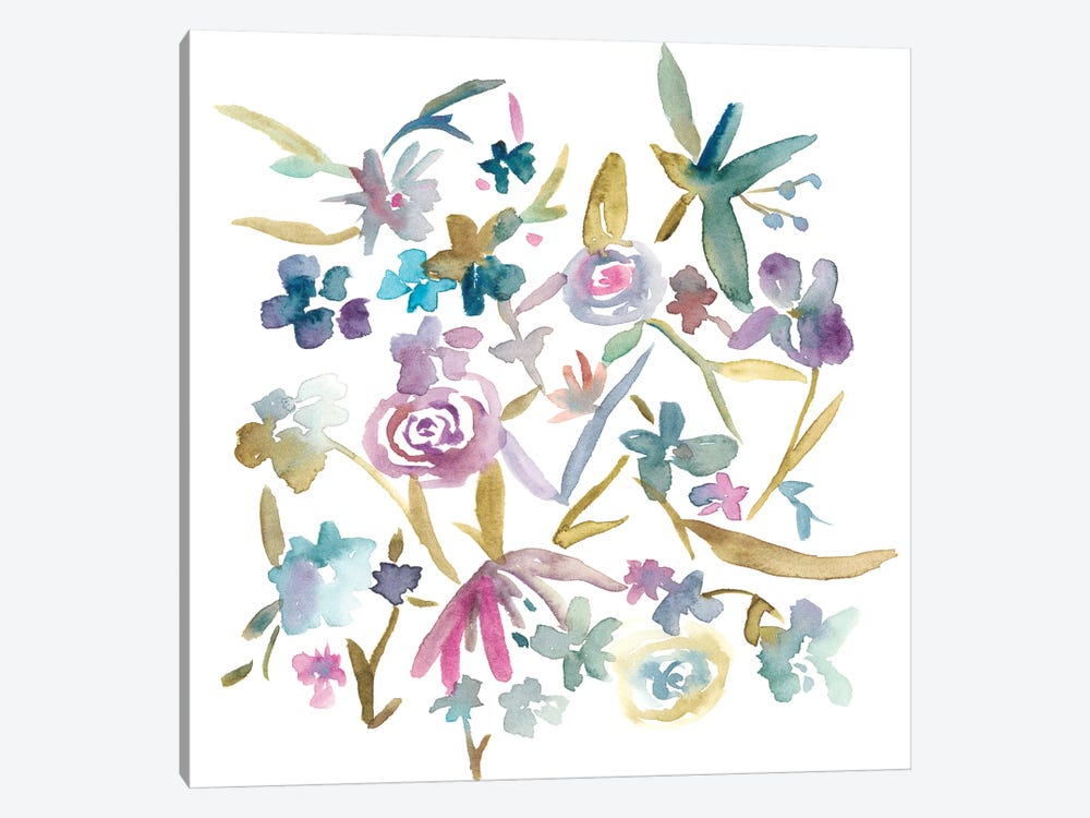 Concord Florals II by Chariklia Zarris 1-piece Canvas Wall Art