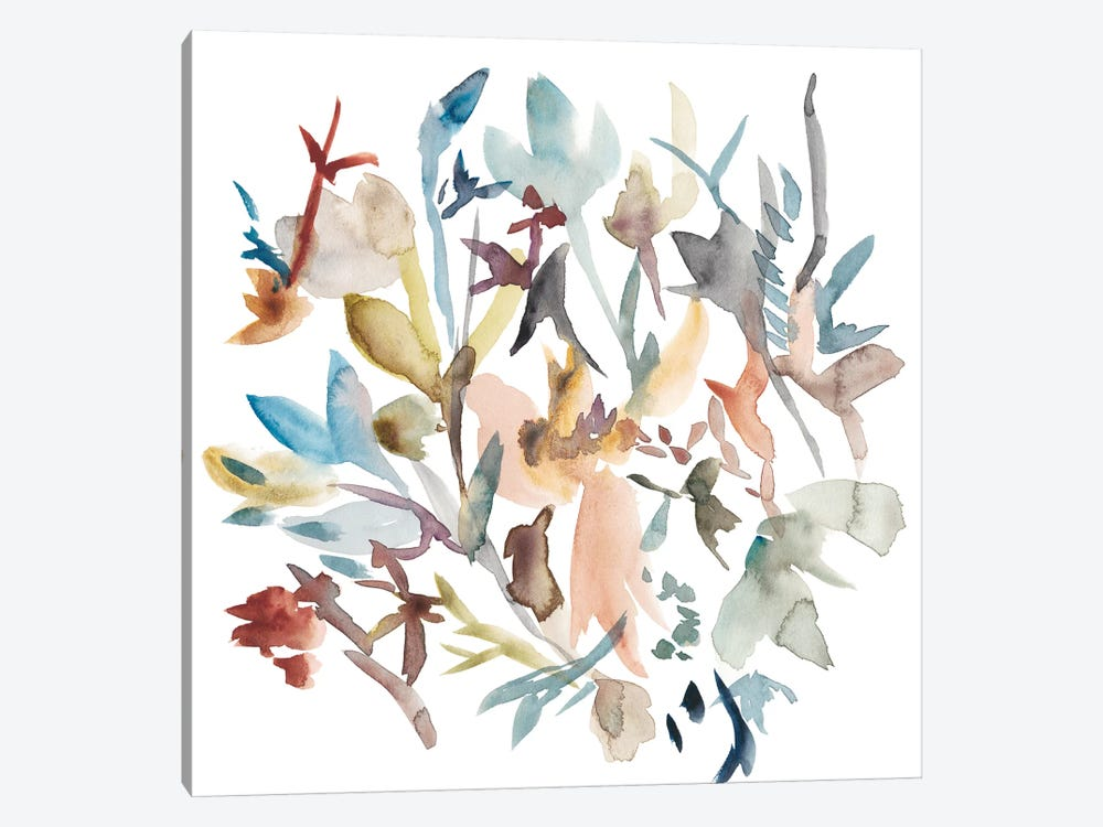Forest Flowers I 1-piece Canvas Print