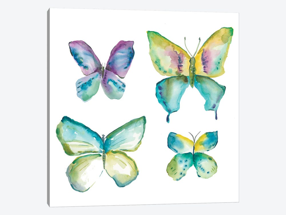 Jeweled Butterflies II 1-piece Canvas Print