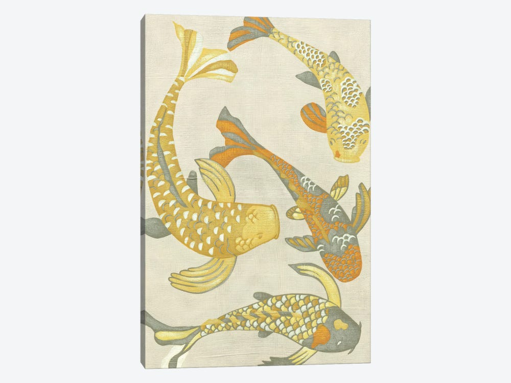 Golden Koi I by Chariklia Zarris 1-piece Canvas Artwork