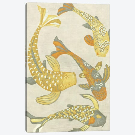 Golden Koi I Canvas Print #ZAR1} by Chariklia Zarris Canvas Art