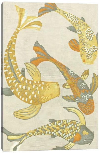 Golden Koi I Canvas Art Print