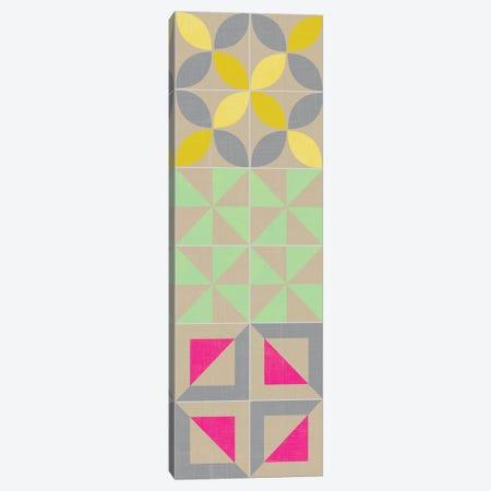 Elementary Tile Panel I 3-Piece Canvas #ZAR20} by Chariklia Zarris Canvas Print