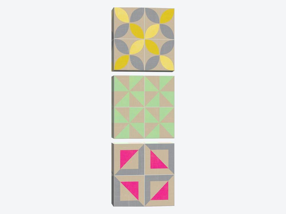 Elementary Tile Panel I by Chariklia Zarris 3-piece Canvas Art