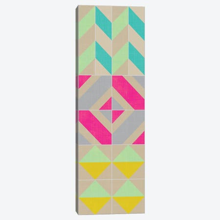 Elementary Tile Panel II 3-Piece Canvas #ZAR21} by Chariklia Zarris Art Print