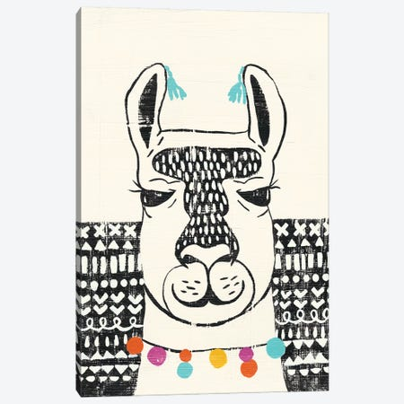Party Llama III Canvas Print #ZAR226} by Chariklia Zarris Canvas Art Print