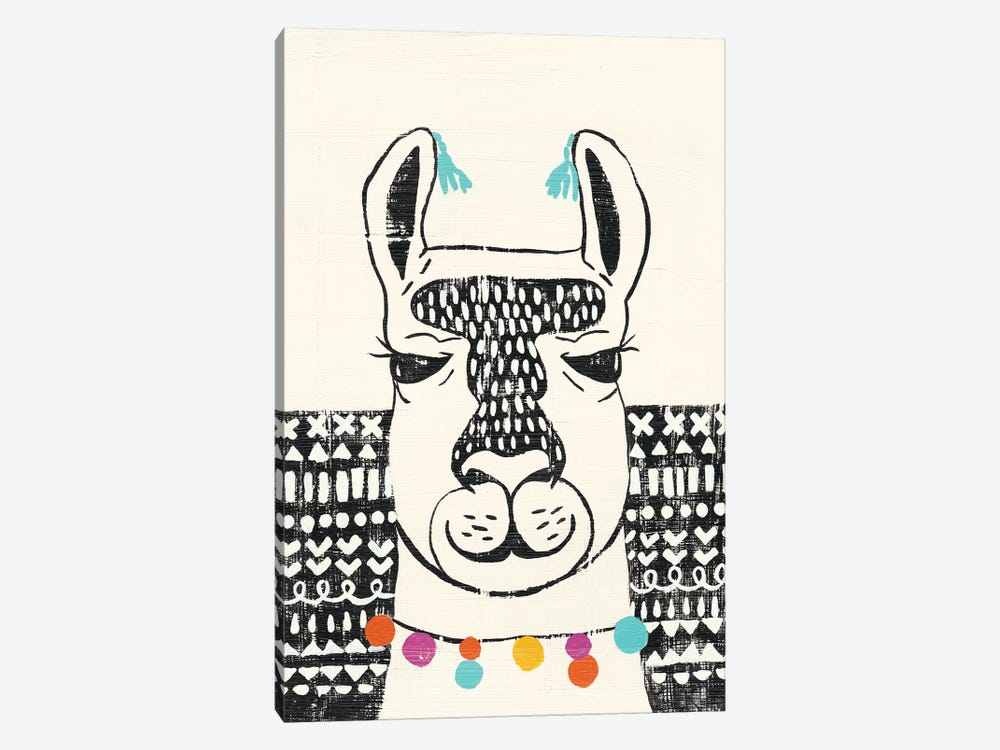 Party Llama III by Chariklia Zarris 1-piece Art Print