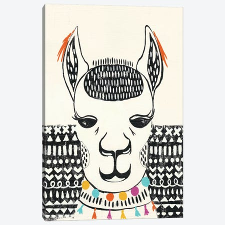 Party Llama IV Canvas Print #ZAR227} by Chariklia Zarris Canvas Art Print