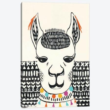 Party Llama IV Canvas Print #ZAR227} by Chariklia Zarris Canvas Art Print