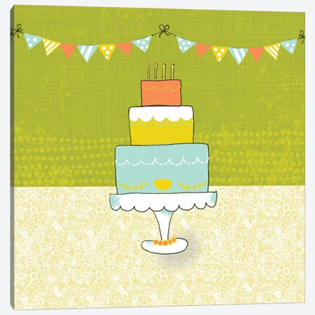 Retro Birthday II Canvas Print #ZAR233} by Chariklia Zarris Canvas Art Print