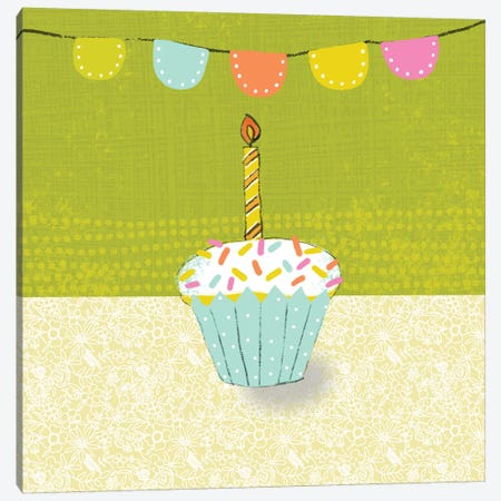 Retro Birthday III Canvas Print #ZAR234} by Chariklia Zarris Canvas Artwork