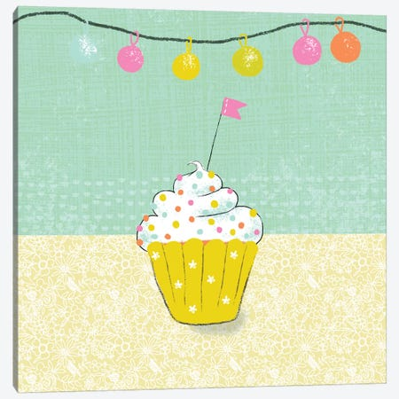 Retro Birthday IV Canvas Print #ZAR235} by Chariklia Zarris Canvas Artwork