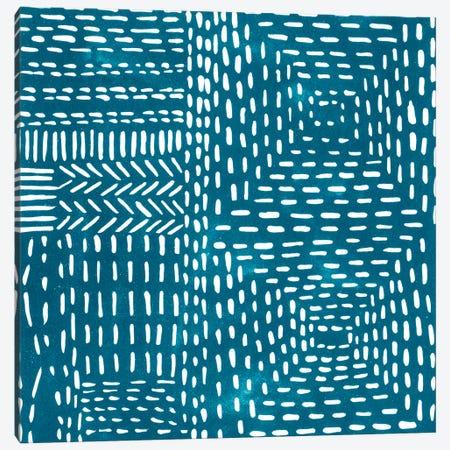 Sashiko Stitches I Canvas Print #ZAR236} by Chariklia Zarris Canvas Wall Art