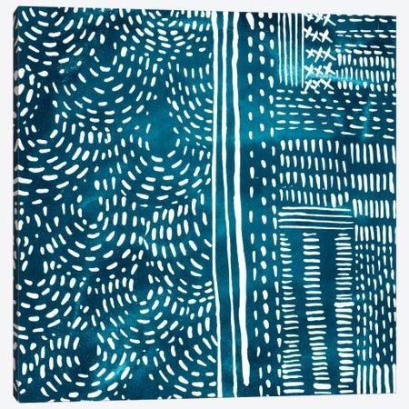 Sashiko Stitches II Canvas Print #ZAR237} by Chariklia Zarris Canvas Art