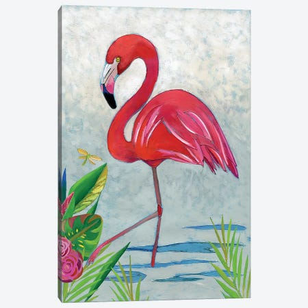 Vivid Flamingo I Canvas Print #ZAR263} by Chariklia Zarris Canvas Art