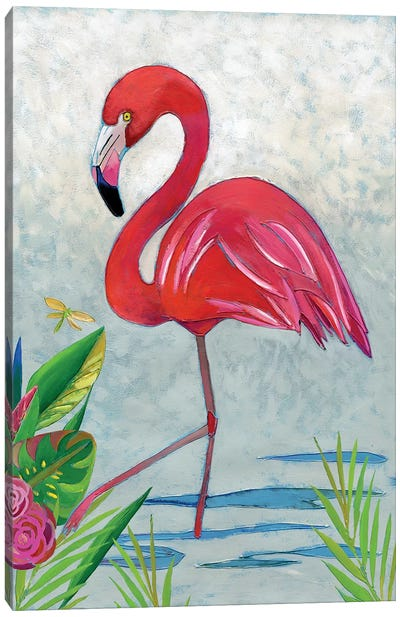 Vivid Flamingo I Canvas Art Print