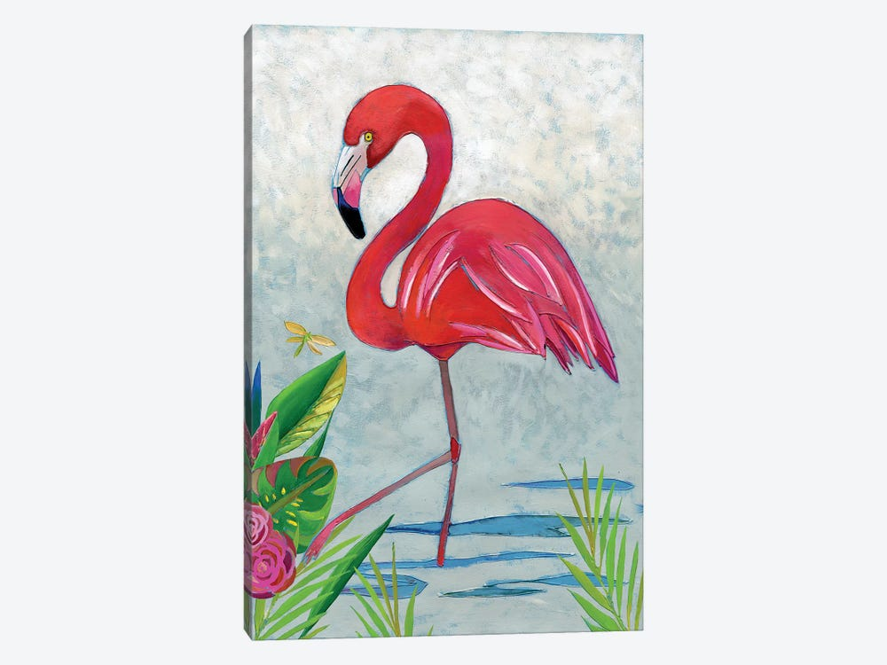 Vivid Flamingo I by Chariklia Zarris 1-piece Canvas Wall Art