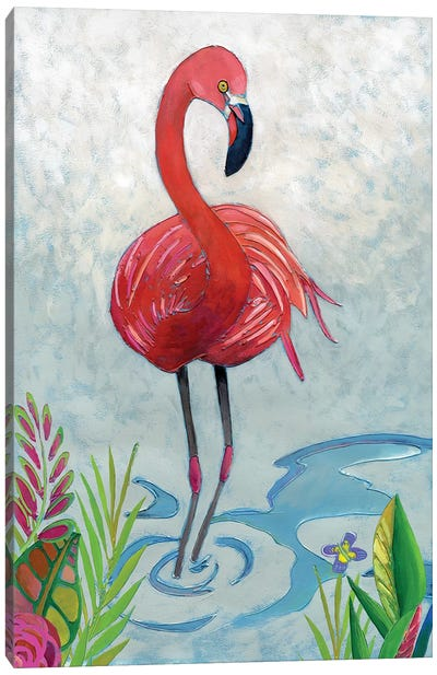 Vivid Flamingo II Canvas Art Print