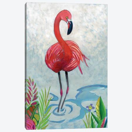 Vivid Flamingo II Canvas Print #ZAR264} by Chariklia Zarris Canvas Art Print