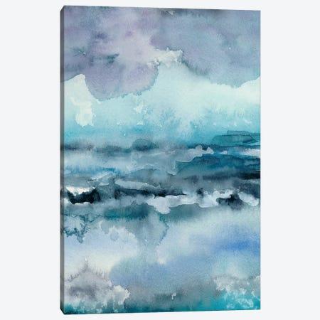Blue Tide I Canvas Print #ZAR269} by Chariklia Zarris Canvas Artwork