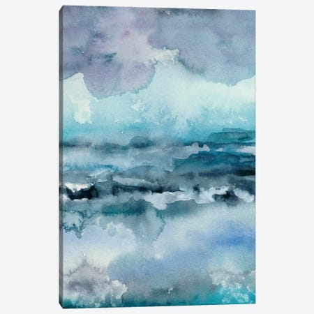 Blue Tide I Canvas Print #ZAR269} by Chariklia Zarris Canvas Artwork