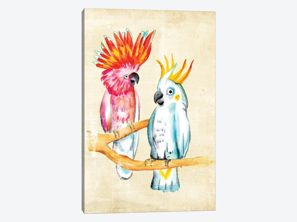 Fanciful Birds IV 1-piece Canvas Wall Art