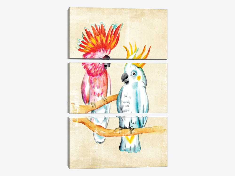 Fanciful Birds IV 3-piece Canvas Art