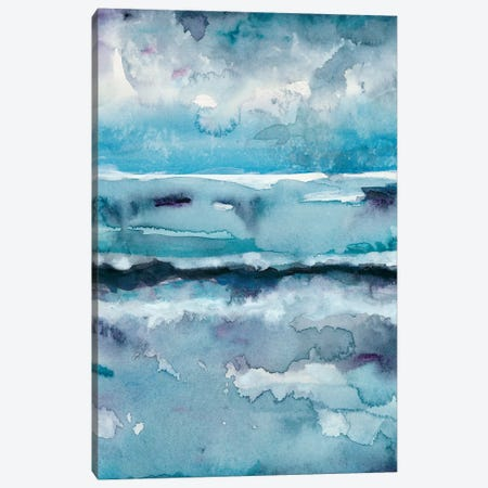 Blue Tide II Canvas Print #ZAR270} by Chariklia Zarris Canvas Art Print