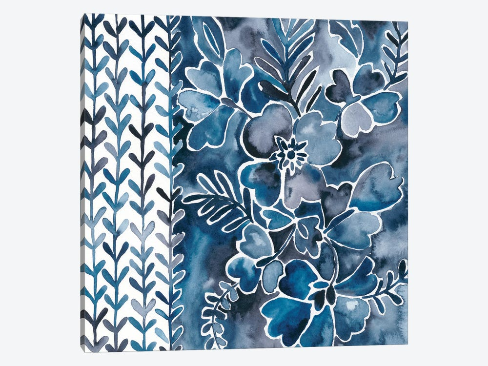 Cobalt Garden I by Chariklia Zarris 1-piece Canvas Art Print