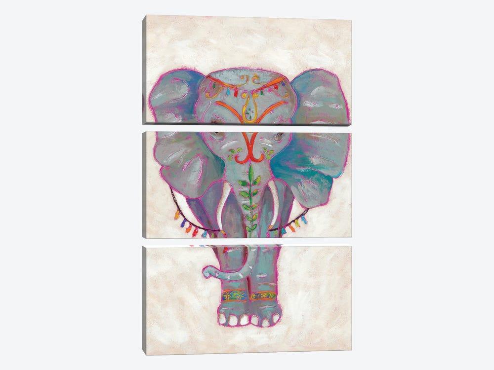 Festival Elephant II by Chariklia Zarris 3-piece Canvas Art