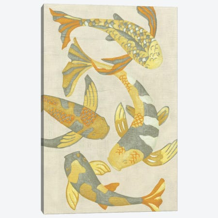Golden Koi II Canvas Print #ZAR2} by Chariklia Zarris Canvas Art