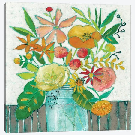 Homestead Floral I Canvas Print #ZAR33} by Chariklia Zarris Canvas Wall Art